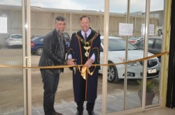 Life! Central chief executive Drew Gormlie and City of Casey mayor Geoff Ablett officially opened stage-one of Life Central on Friday. Pictures: DONNA OATES