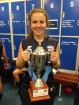 Cranbourne midfielder Georgia Gourlay celebrated the Youth Girls premiership victory by Vic Metro even after a horror week where she badly injured her knee. 139658 Picture: SUPPLIED