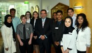 The lucky study tour participants at a council meeting on Tuesday 2 February with Casey Mayor Sam Aziz.